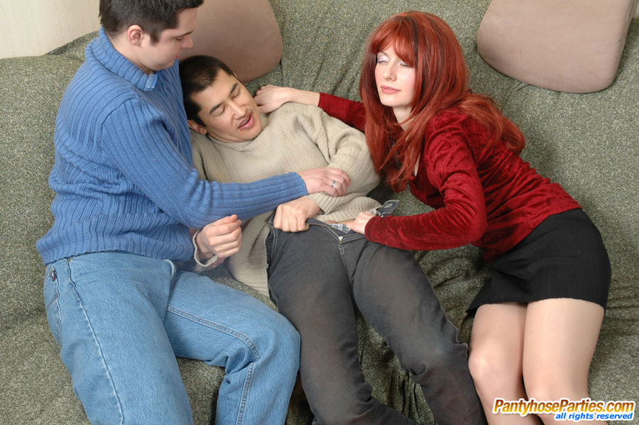 Group nylon sex with two