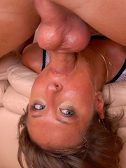 Babe gets her deep throat filled with cum up to - XXXonXXX - Pic 9