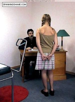 Pigtailed teen babe forced to undress an - XXX Dessert - Picture 1