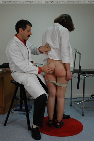 Doctor spanks patient