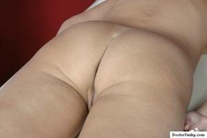 Tan nurse gives a sex exam to a white gi - XXX Dessert - Picture 9