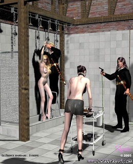 Adult bondage comics. Slave girls need to be washed at first!