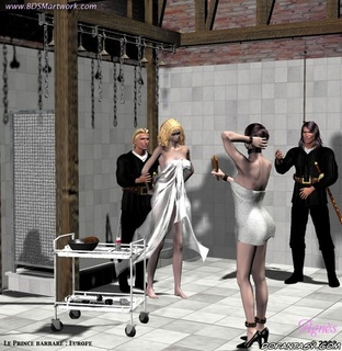 Submission art. Blonde slave girl gets her pussy washed!