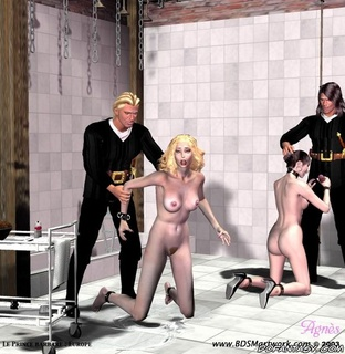 Fetish cartoons. Her chained legs opened wide!