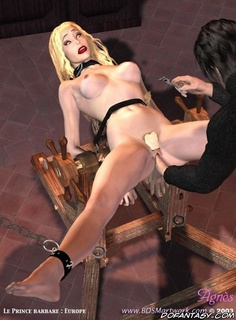 Bdsm cartoons. Blonde slave's pussy expolred my Master!