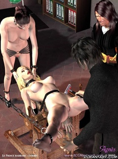 Bondage comics. Slave girl gang-banged by slave men!