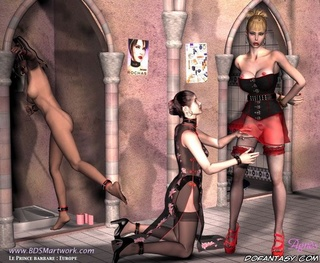 Submission art. Slave girl forced to wear sexy lingeire!