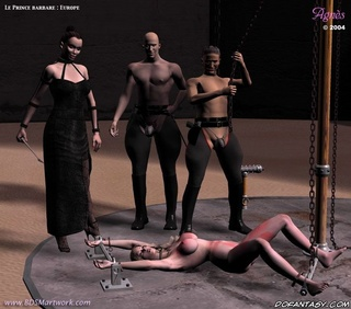 Free bdsm comics. Girl chained and humiliated by Mistrees and her two servants!