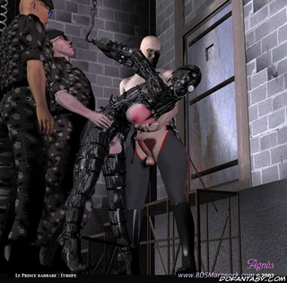 Slave art. New slaves are inspected!