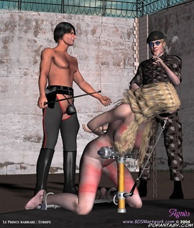 Submission comics. Blonde slave gets her tits tortured!