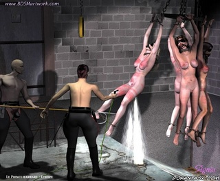 Slave girl. Servant are washing slaves of their Mistress!