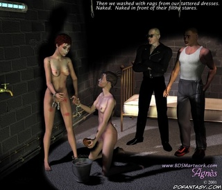 Slave girl. This two girls have to please criminals!