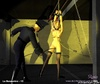 Submission art. Slave chained and gets her body…