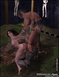 Bdsm art. Snow White was crucified by servant of her step mother!