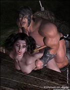 Fetish cartoons. Big guard fucked Snow White and pushed her into the pit!