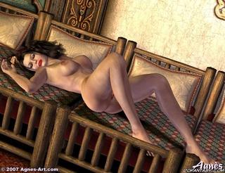 Adult bondage comics. Busty Snow White falls asleep naked!