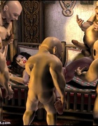Adult bondage comics. Busty Snow White falls…
