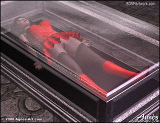 Bdsm art drawings. Gnomes put dead Snow White in glass coffin!