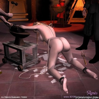 Bondage cartoons. They removed her clothes and chained her!