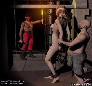 Bdsm art drawings. Blonde slave girl was taken to the torture basement!