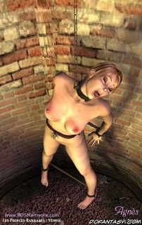 Humiliation comics. Slave girl crying in the storing well!