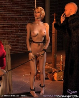 Slave girl. Blonde slave girl crying for mercy!