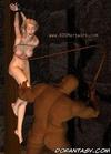 Bondage toons. White slave girl gets her bobs…