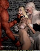 Bondage toons. Blonde slave girl became troll's…