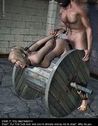 Adult bondage comics. Bound girl tries to escape…