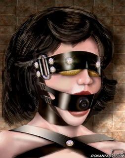 Torture drawings. Brunette girl hanged over dark storing well!