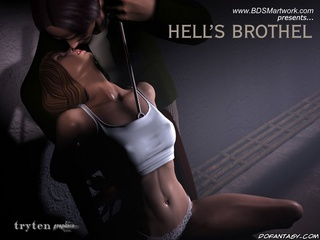 Submission. Big muscular guy humiliates two bound girls!