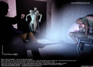 Bondage toons. Blonde gilr in glasses humiliated in the dark room!