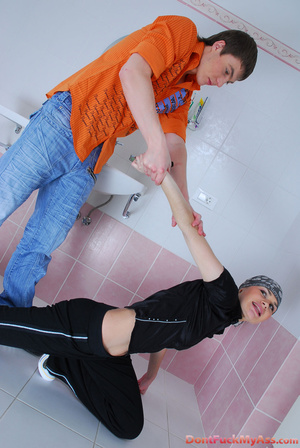 Sassy girl-thief getting spanked and backdoor fucked by a wicked dude - XXXonXXX - Pic 1
