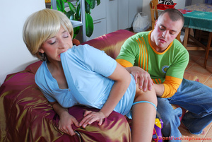 Blonde teeny gets anal creampie and a big mouthful after double bumming - XXXonXXX - Pic 5