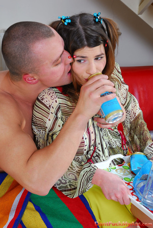 Unfortunate maid gets her tight teen booty ravaged for a can of beer - XXXonXXX - Pic 4