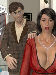 Lucky 3d guy gets his cock sucked by stunning - Cartoon Sex - Picture 6