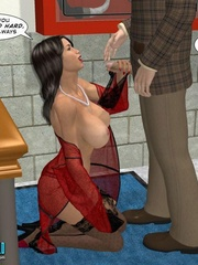 Lucky 3d guy gets his cock sucked by stunning - Cartoon Sex - Picture 13