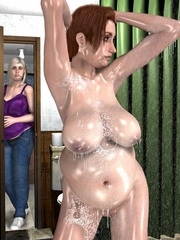 Crazy busty 3d milf gets caught posing - Cartoon Sex - Picture 7