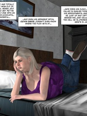 Fat big bobed 3d milf taking off her towel - Cartoon Sex - Picture 2