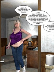 Fat big bobed 3d milf taking off her towel - Cartoon Sex - Picture 6