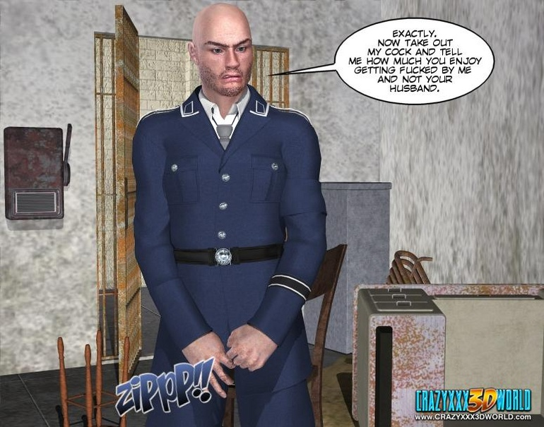 Horny security guy being watched while - Cartoon Sex - Picture 7