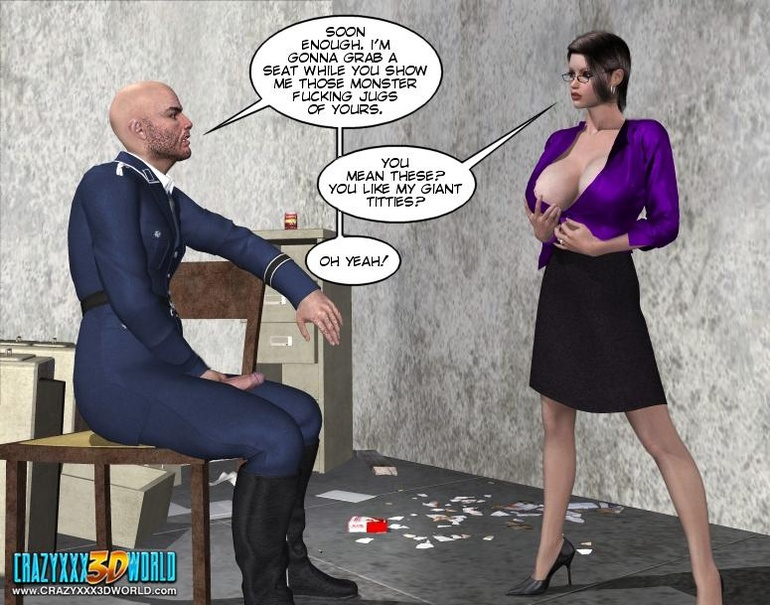 Horny security guy being watched while - Cartoon Sex - Picture 9