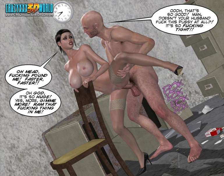 Horny security guy being watched while - Cartoon Sex - Picture 14