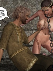 Chained captured 3d princess gets facialized - Cartoon Sex - Picture 7