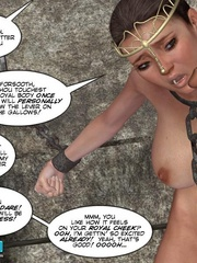 Chained captured 3d princess gets facialized - Cartoon Sex - Picture 8