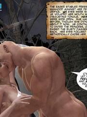 Busty 3d stunner wanna taste hot cum in her - Cartoon Sex - Picture 2