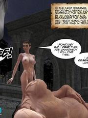 Busty 3d stunner wanna taste hot cum in her - Cartoon Sex - Picture 4