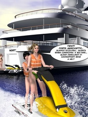 Young 3d babe and her slim lover heading to - Cartoon Sex - Picture 11