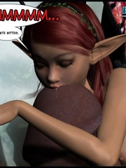 Little 3d pixie jerking off thick human dick - Cartoon Sex - Picture 9
