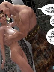 Busty 3d cutie gets captured and touched by - Cartoon Sex - Picture 10